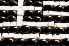 Grekisk flagga som göras av mat Arkivfoto