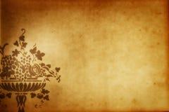 grekisk grungepappersvase arkivbild