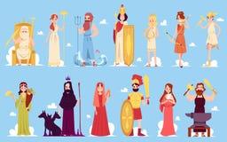 Grekisk gudinna stock illustrationer