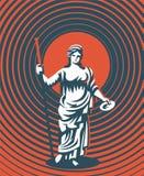 Grekisk gudinna Hera också vektor för coreldrawillustration stock illustrationer
