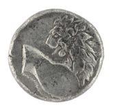 grekisk half lion för forntida bc drachm 350 Royaltyfria Bilder