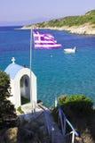 Grekisk havskust Arkivfoto