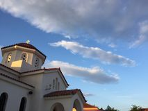 Grekisk himmel royaltyfria foton