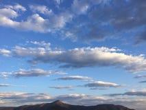 Grekisk himmel royaltyfri fotografi
