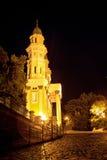 Grekisk katolsk domkyrkaRuthenian katolsk kyrka i Uzhhorod C Arkivfoto