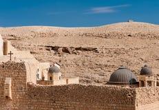 Grekisk kloster i Palestina Arkivbild