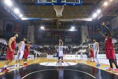 Grekisk korgligalek Paok vs Olympiakos Arkivbild