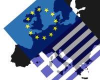 Grekisk kris Fotografering för Bildbyråer