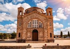 Grekisk kristen kyrka Agios Georgios arkivfoto