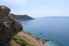 Grekisk kust 2 royaltyfri foto