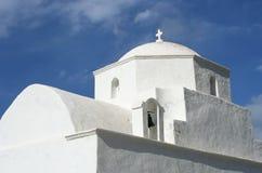 Grekisk kyrka Fotografering för Bildbyråer