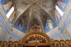 Grekisk kyrka av Cargese, Corse, Frankrike Arkivfoto