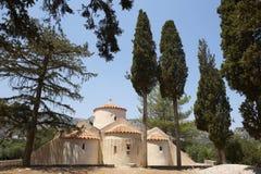 Grekisk kyrka av Panagia Kera crete Grekland Royaltyfri Fotografi