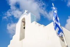 Grekisk kyrka i Parikia Royaltyfri Bild