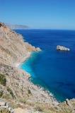 Grekisk liggande, amorgosö Arkivfoto