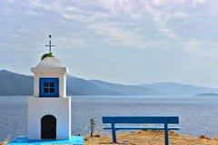 Grekisk liten kyrka Fotografering för Bildbyråer