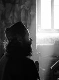 Grekisk munk Arkivfoto