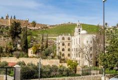 Grekisk ortodox kyrka av St Stephen i Jerusalem Arkivfoton