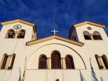 Grekisk ortodox kyrka i Kreta Royaltyfri Fotografi