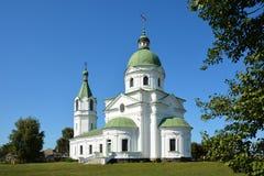 Grekisk ortodox kyrka, klosterbroder, byggande århundrade XVIII tre Royaltyfria Bilder
