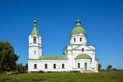 Grekisk ortodox kyrka, klosterbroder, byggande århundrade XVIII tre Arkivfoton