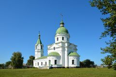 Grekisk ortodox kyrka, klosterbroder, byggande århundrade XVIII tre Royaltyfri Foto