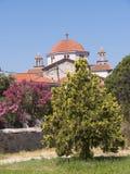 Grekisk ortodox kyrka på Kalloni Lesvos Grekland Royaltyfri Bild