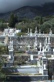 Grekisk ortodox kyrkog?rd royaltyfria foton