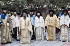 Grekisk ortodox St Nicholas beröm Royaltyfri Bild