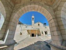 Grekisk ortodoxkyrka av annunciationen, Nazareth Royaltyfri Bild