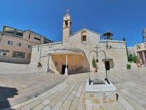 Grekisk ortodoxkyrka av annunciationen, Nazareth Arkivbild