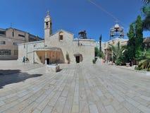 Grekisk ortodoxkyrka av annunciationen, Nazareth Arkivfoton