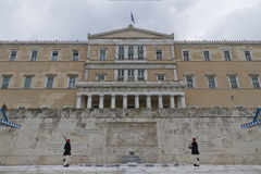 grekisk parlament Arkivbild