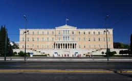 Grekisk parlament i Athens royaltyfria foton