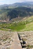 grekisk pergamon för forntida stad teater Arkivfoto
