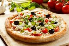 grekisk pizzastil arkivfoto