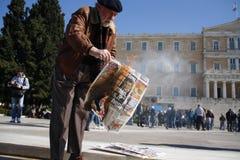 grekisk privat offentlig sektor för demonostration Royaltyfria Bilder