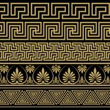 grekisk prydnad Modeller i antik stil Royaltyfri Bild