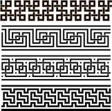 Grekisk sömlös prydnad royaltyfri illustrationer
