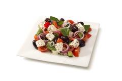 Grekisk sallad i en salladbunke Royaltyfri Foto