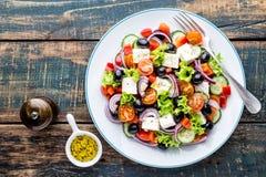 Grekisk salladplatta royaltyfri foto