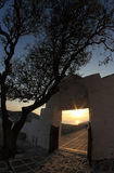 Grekisk sikt i folegandrosön Arkivfoto