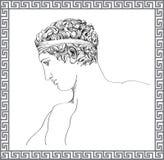 Grekisk skulptur. Den drog vektorhanden skissar. stock illustrationer
