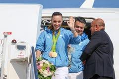 Grekisk skyttestjärna Anna Korakaki - Rio Olympics royaltyfri bild