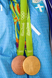 Grekisk skyttestjärna Anna Korakaki - Rio Olympics royaltyfri fotografi