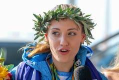 Grekisk skyttestjärna Anna Korakaki - Rio Olympics royaltyfria bilder