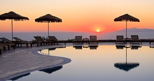 Grekisk soluppgång Arkivbild
