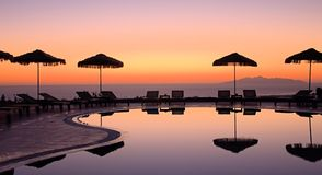 Grekisk soluppgång Royaltyfri Fotografi