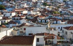 Grekisk stad Arkivbild