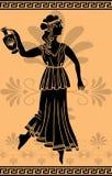 grekisk stencilkvinna för amphora stock illustrationer